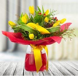 11 Żółtych Tulipanów