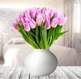 30 Różowych Tulipanów